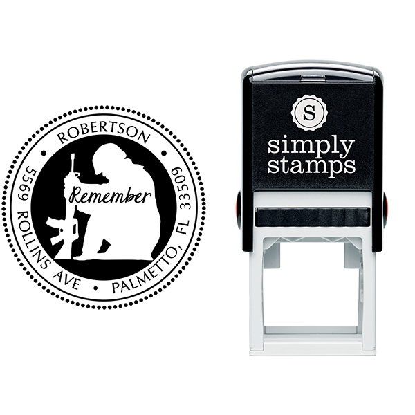 Remember Our Soldiers Address Stamp Body and Design