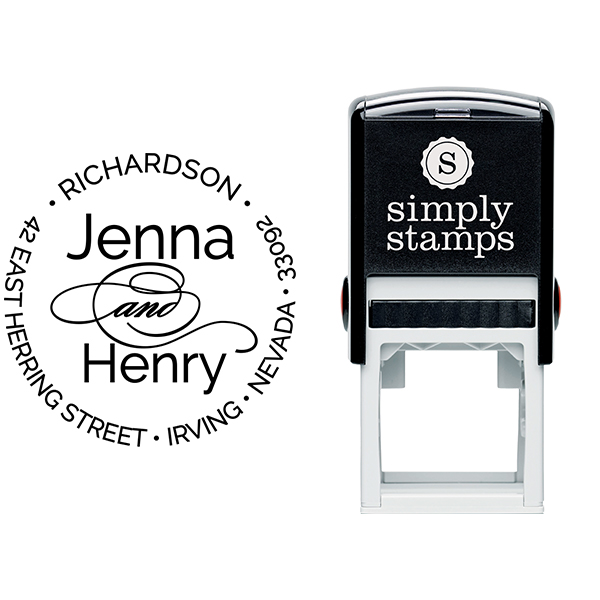 Calligraphy Deco And Return Address Stamp Body and Design