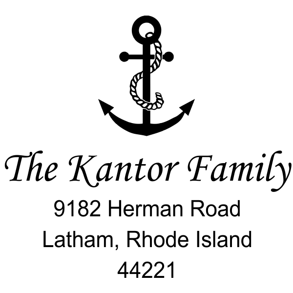 Anchor Rope Nautical rubber address stamp