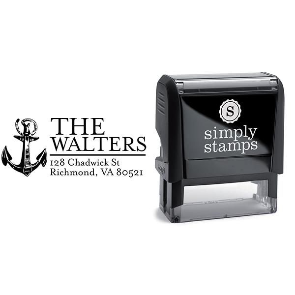 Nautical Sailor Anchor Return Address Stamp Body and Design