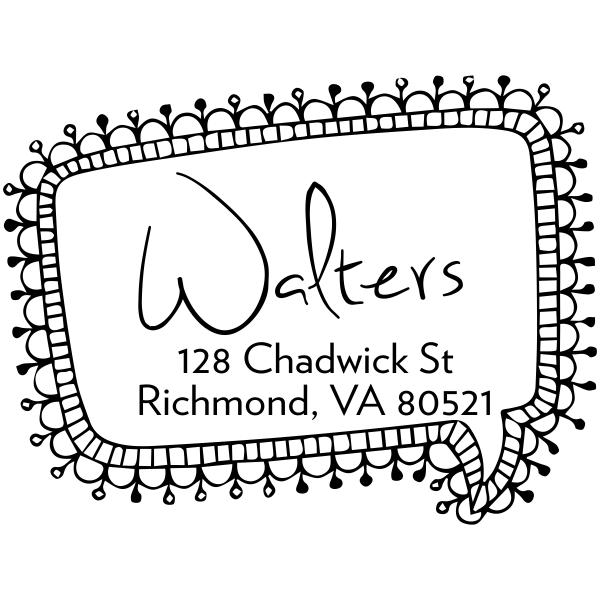 Craft address stamp