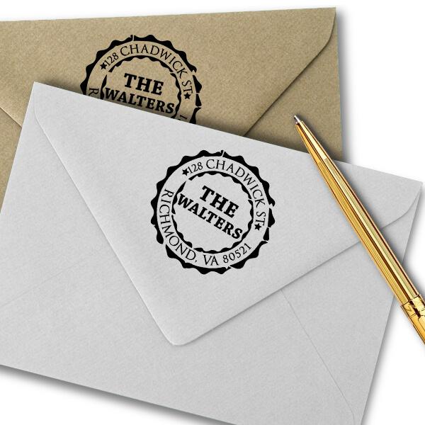 Emblem Stamp Return Address Stamp Imprint Example