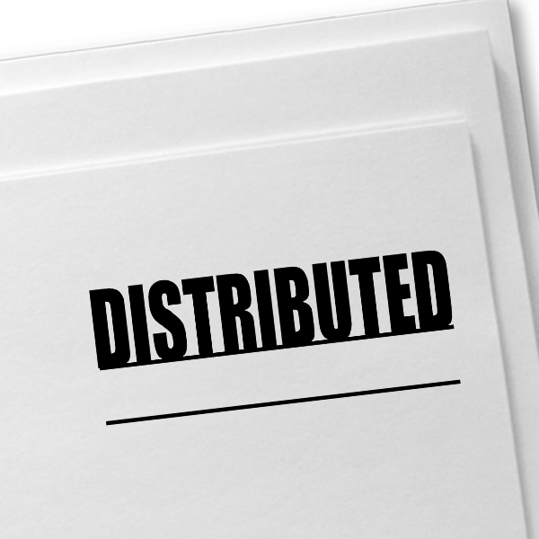 DISTRIBUTED Stock Stamp