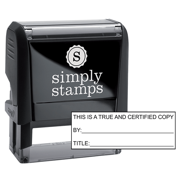True and Certified Copy Stock Stamp
