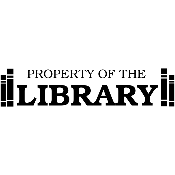 Property Of - Library Book Ends Rubber Teacher Stamp