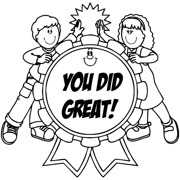 Feedback - YOU DID GREAT! Student High Five Rubber Teacher Stamp