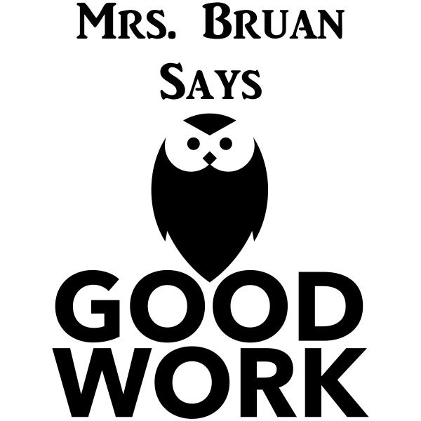 Feedback - GOOD WORK Owl Rubber Teacher Stamp