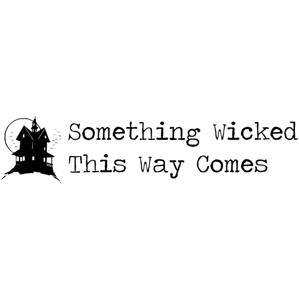 Something Wicked Haunted House Halloween Rubber Stamp