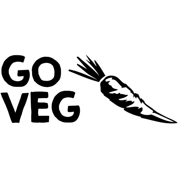 GO VEG Carrot Rubber Stamp Imprint Example
