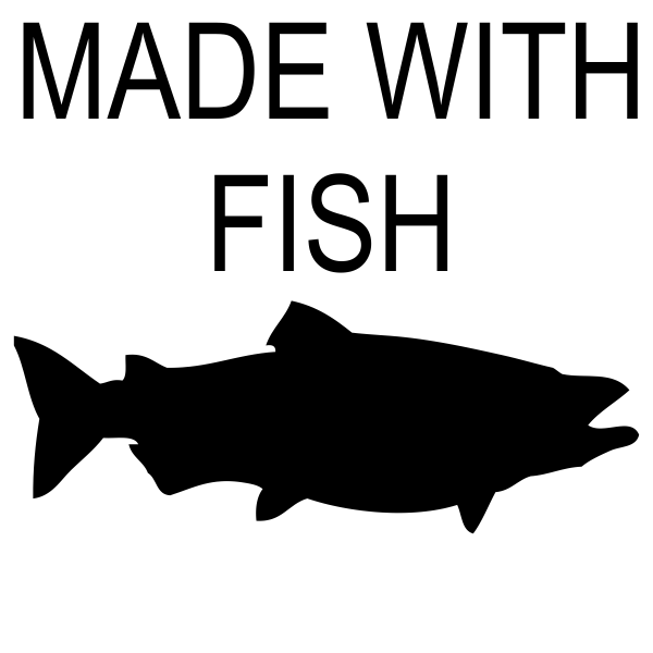 Made With Fish Rubber Stamp Imprint Example
