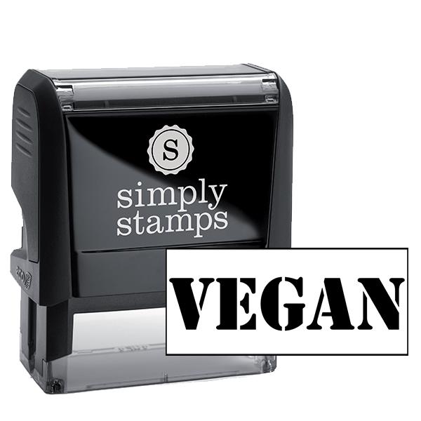 VEGAN STENCIL Rubber Stamp