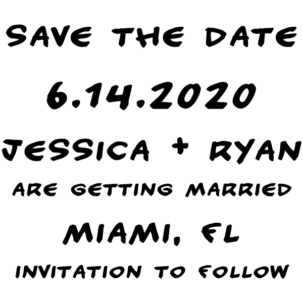 Handwritten Note Save The Date Rubber Stamp