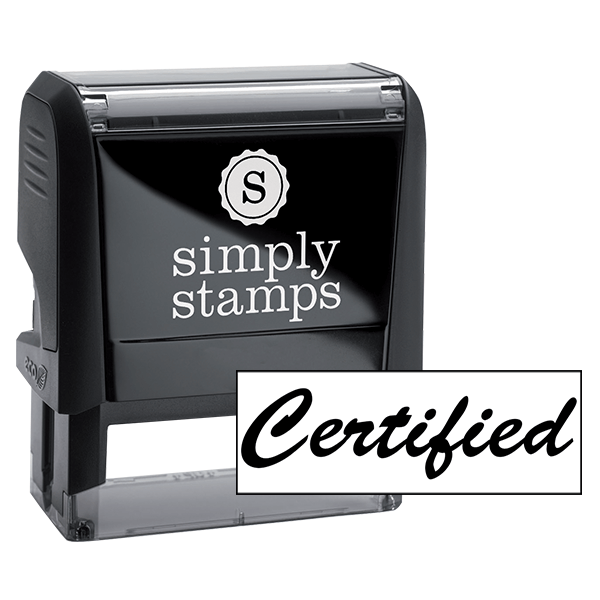 Certified Cursive Office Rubber Stamp