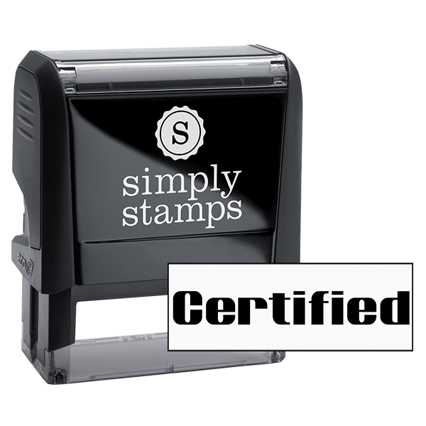 Certified Computer Office Rubber Stamp