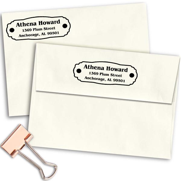 Plaque Plate Custom Address Stamp Imprint Example