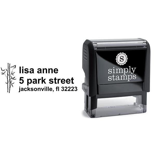 Bamboo Themed Custom Address Stamp Body and Design