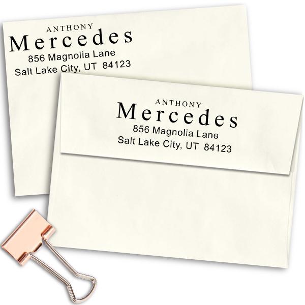 Times Name Return Address Stamp Imprint Example