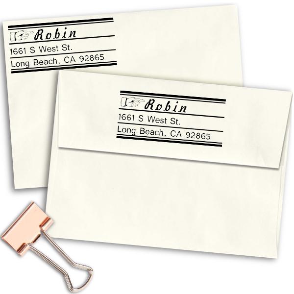 Finger Pointer Return Address Stamp Imprint Example