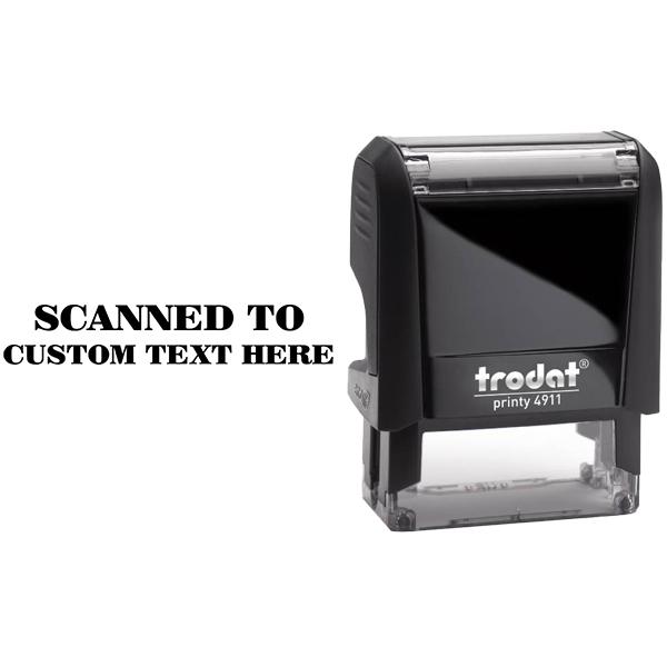 Custom SCANNED Mobile Deposit Rubber Stamp Body and Design