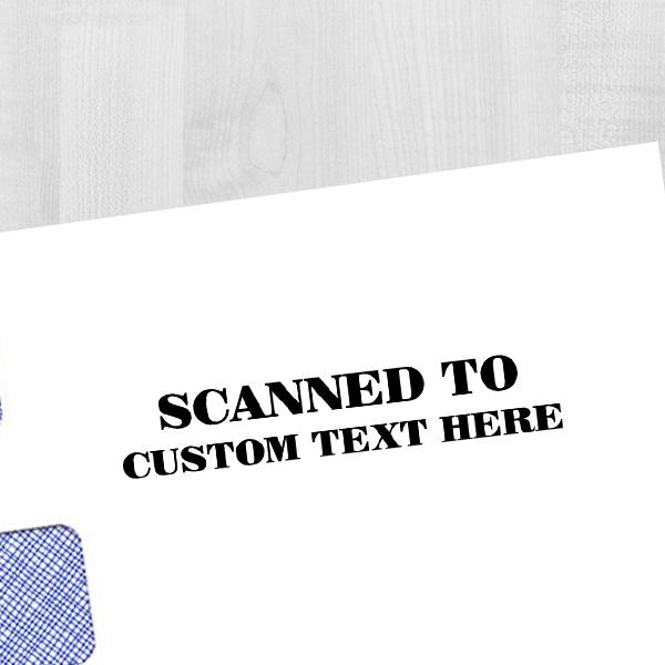 Custom SCANNED Mobile Deposit Rubber Stamp Imprint Example