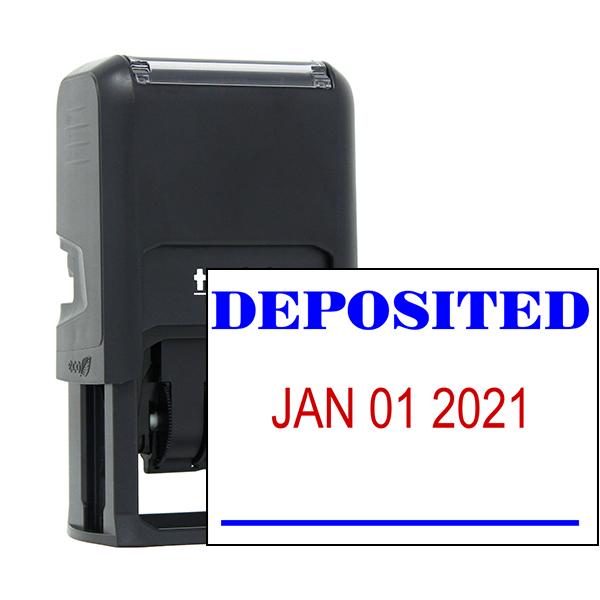 DEPOSITED Dater Mobile Deposit Rubber Stamp