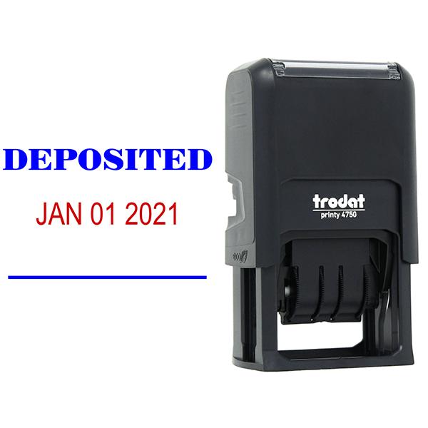 DEPOSITED Dater Mobile Deposit Rubber Stamp Body and Design