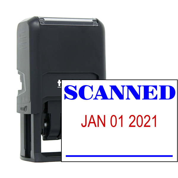 SCANNED Dater Mobile Deposit Rubber Stamp