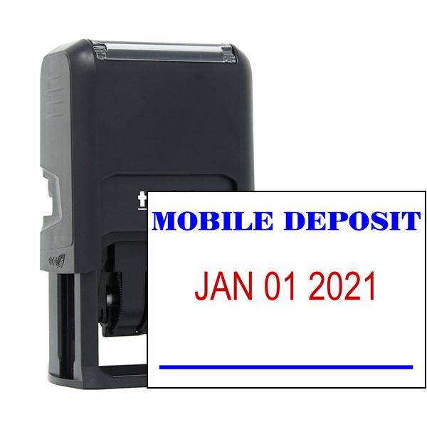 MOBILE DEPOSIT Dater Mobile Check Deposit Rubber Stamp