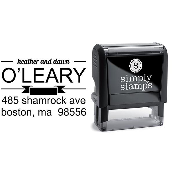 Banner Divide Return Address Stamp Body and Design