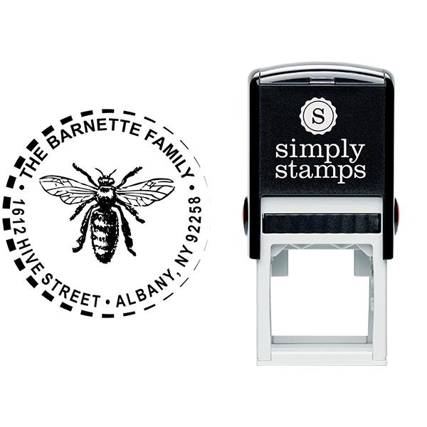 Sitting Hornet Return Address Stamp Body and Design