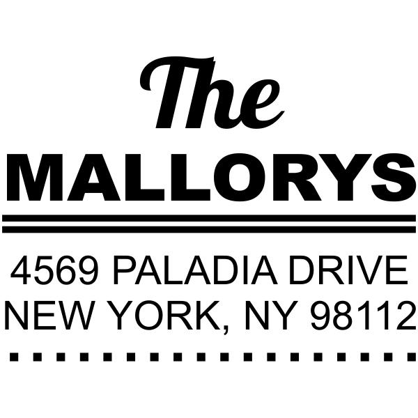 Metro address stamp Style 1