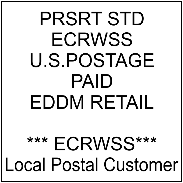 Postage Paid mail rubber stamp