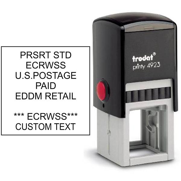 EDDM U.S. Postage Presorted ECRWSS Custom Text Stamp Body and Design