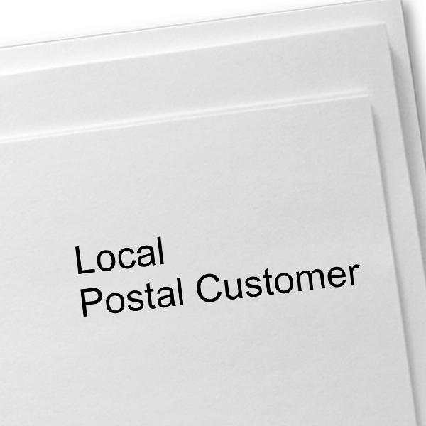 Local Postal Customer Stamp Imprint Example