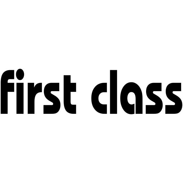 FIRST CLASS Lower Case Stock Stamp