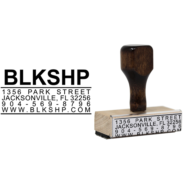 Bold Title Business Card Stamp Body and Design