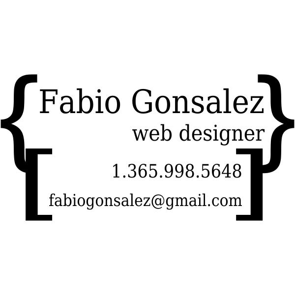 Custom Business Card Rubber Stamp Design 4