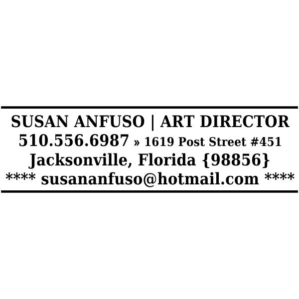 Custom Business Card Stamper