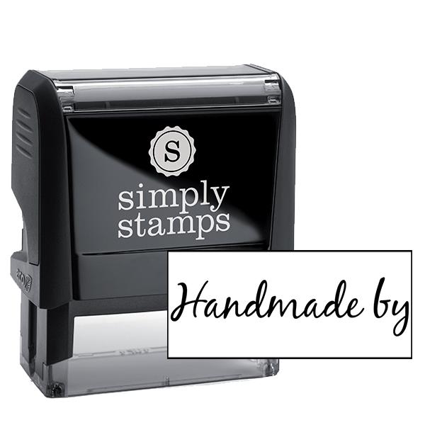 Handmade By Cursive Packaging Stamp