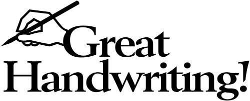 Great Handwriting Pen Teacher Stamp