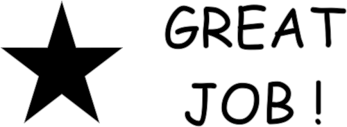 great job star teacher rubber stamp