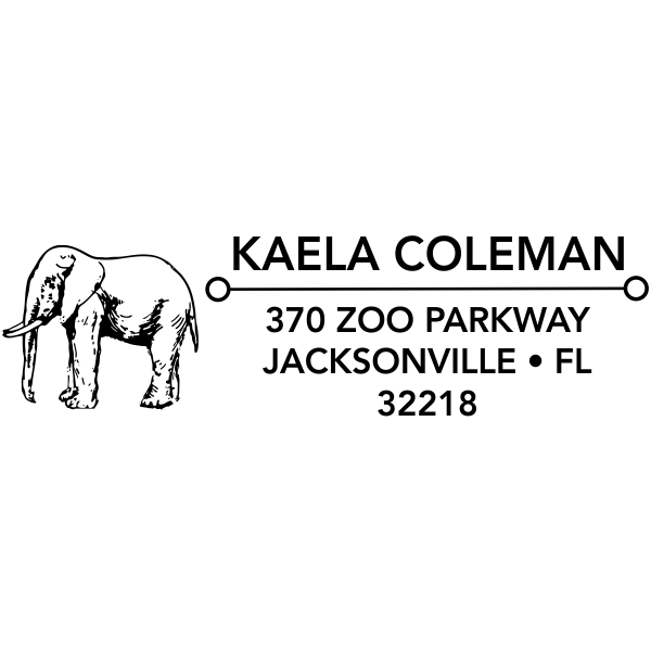 Standing Elephant Address Stamp