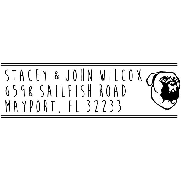 Boxer Dog Address Stamper