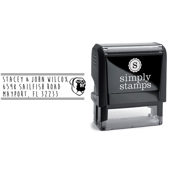 Bullmastiff Dog Address Stamp Body and Design