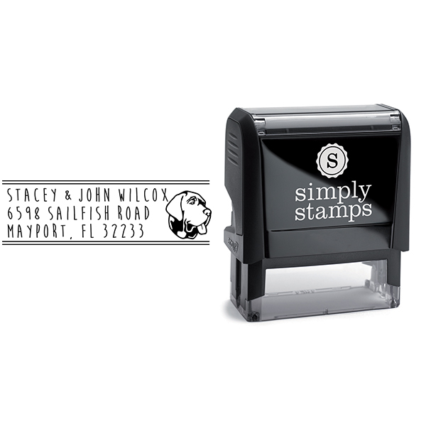 Large Labrador Dog Address Stamp Body and Design