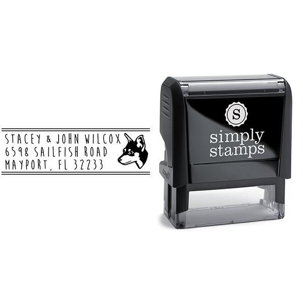 Manchester Terrier Dog Address Stamp Body and Design