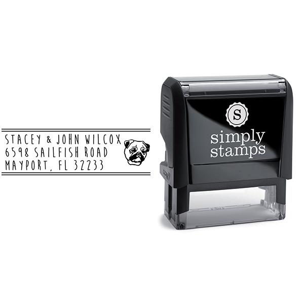 Pug Dog Address Stamp Body and Design