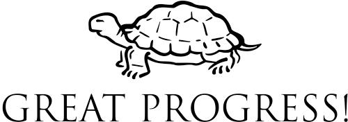 Great Progress Turtle Teacher Stamp