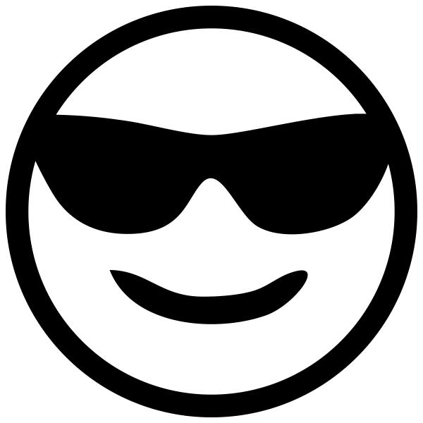 Cool Sunglasses Emoji Stamp