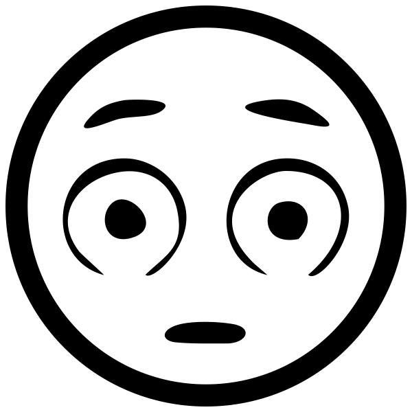 Wide Eyed Emoji Stamp
